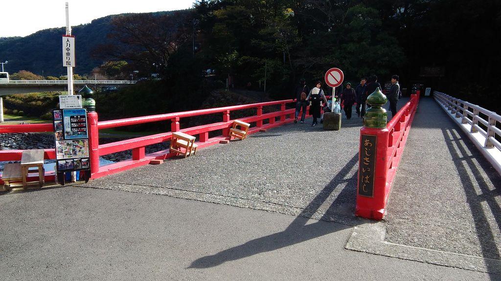 さあさやって参りました! 左手に見えますのがあじさい橋でございます! #ハコネちゃん
