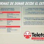 Las 3 formas de donar desde el extranjero. #VamosChilenos #Teleton2015 https://t.co/KqrK31YWQ1