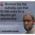 .@asadowaisi not the only prominent Indian Muslim speaking against Haj subsidy. Only the corrupt thekedars want it https://t.co/wbu0v6vzfI