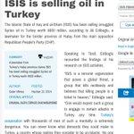 هذا من احد النواب الأتراك المعارضين:(٢٠١٤) قيمة النفط الذي يتم تهريبة من داعش الى تركيا 800$ مليون https://t.co/YcLJ2P7y62