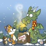 Habt einen wunderschönen 1. Advent und genießt die Glühwein-Saison! Und ja, der Drache ist Gryffindor-Fan :D. https://t.co/GIOn53m3Bx