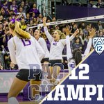 For the second time in the past three years and fourth time in school history, @UWVolleyball is the @pac12 Champion! https://t.co/b0nu6gMPSn