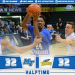 Upshaw hit a buzzer-beating triple and the #BlueRaiders head into halftime tied with Toledo, 32-32! #TrueFamily https://t.co/X3Kq8K3Jiv