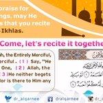 """أعظم المدح لملك الملوك سبحانه أن تقرأ سورة """" الإخلاص"""" هيا نقرأها سوياً #Allah #Quran https://t.co/4Nx1gvKUP5"""