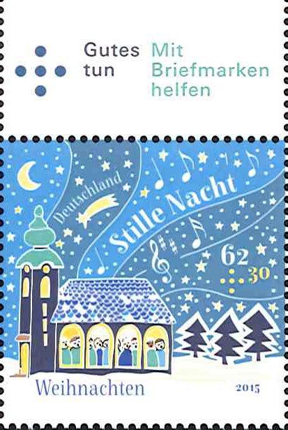 ドイツのクリスマス切手。今年は讃美歌「きよしこの夜」がモチーフになっています。とってもかわいらしいデザインです(#^.^#) https://t.co/rb0U4UrfVr https://t.co/Zs292ZdIUI