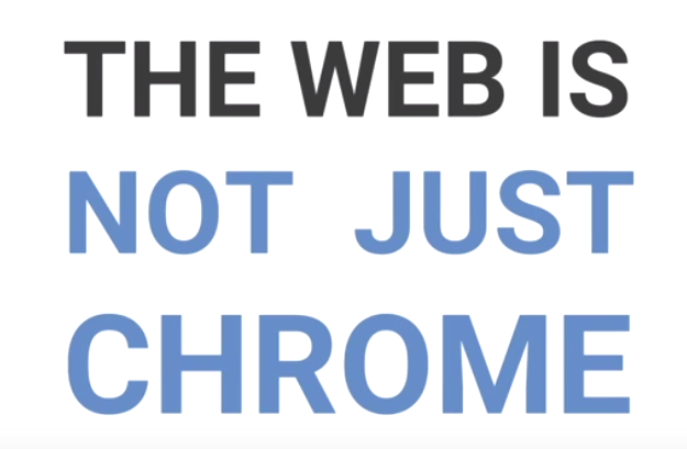 """From #chromedevsummit: """"the web is not just Chrome"""". Well said, Darin Fisher, VP of Chrome. https://t.co/b3at6ILJj7"""