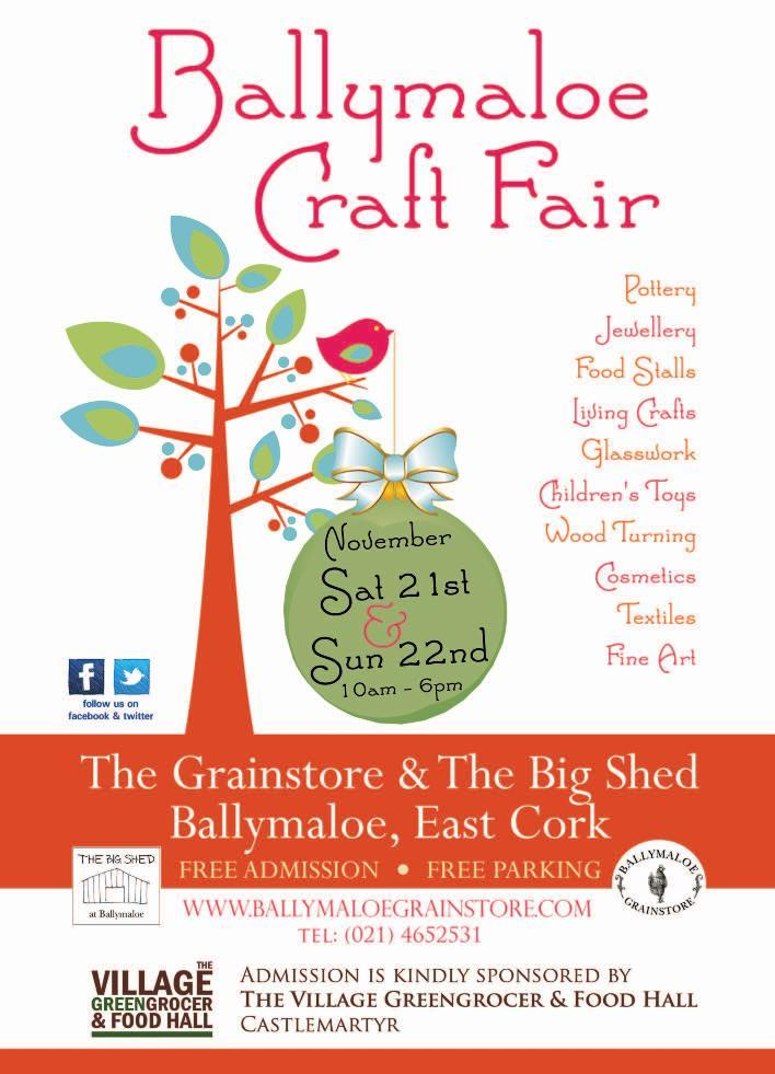 Ballymaloe Craft Fair - Sat 21st & Sun 22nd November 10am to 6pm.  FREE entry. Christmas crafts, food & fun for all! https://t.co/6TSz0XR3zq