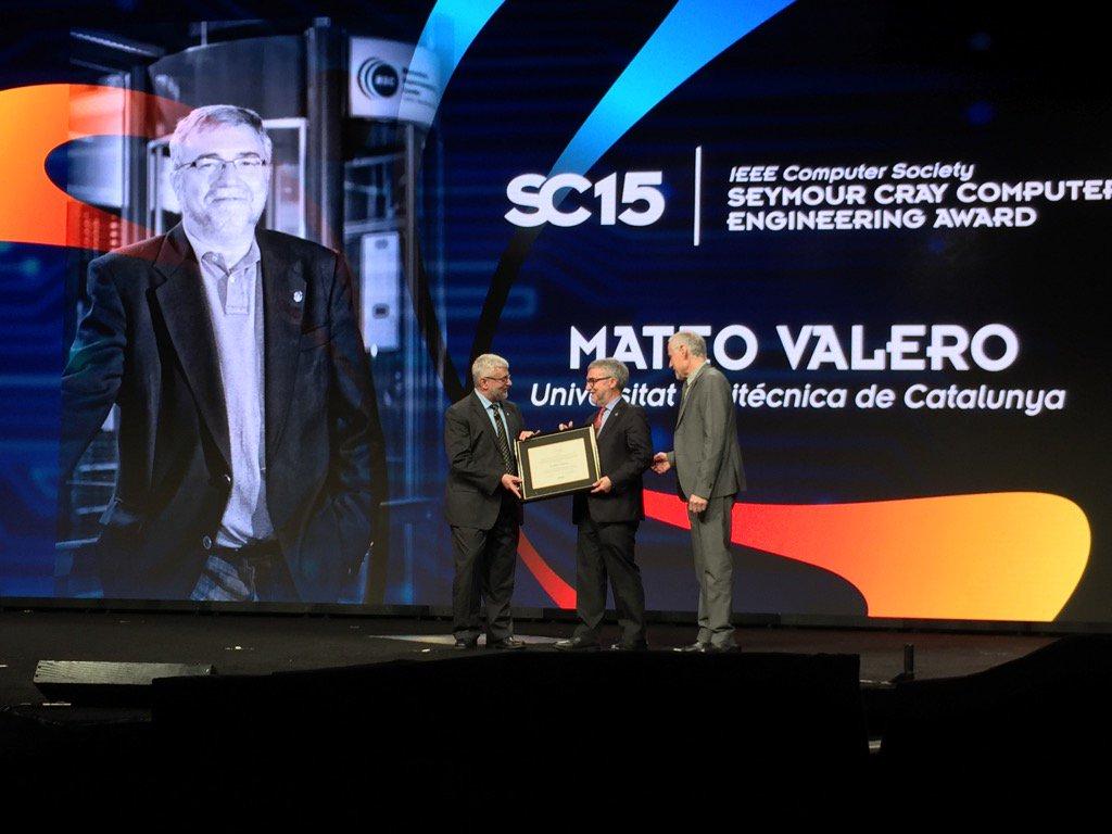 Mateo Valero accepts #SC15 Seymour Cray Award! #HPC #HPC https://t.co/zPvghyO1z0