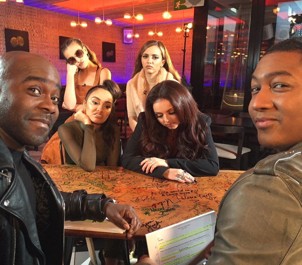 Hi #Mixers catch me & @rickiehw on the #Hotdesk with @Littlemix very soon! Look at how excited they are 2C us