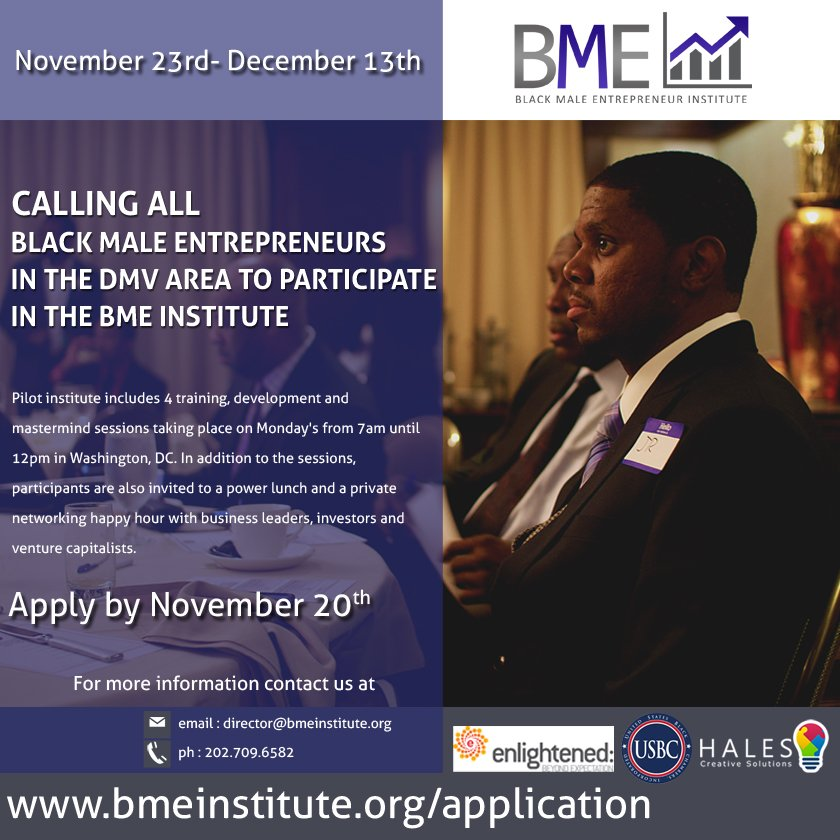 Thanks to everyone who engaged in the #tweetchat tonight. S/O to our co-host @BMEInstitute launching 11/23 APPLY NOW https://t.co/OCUqHculOy