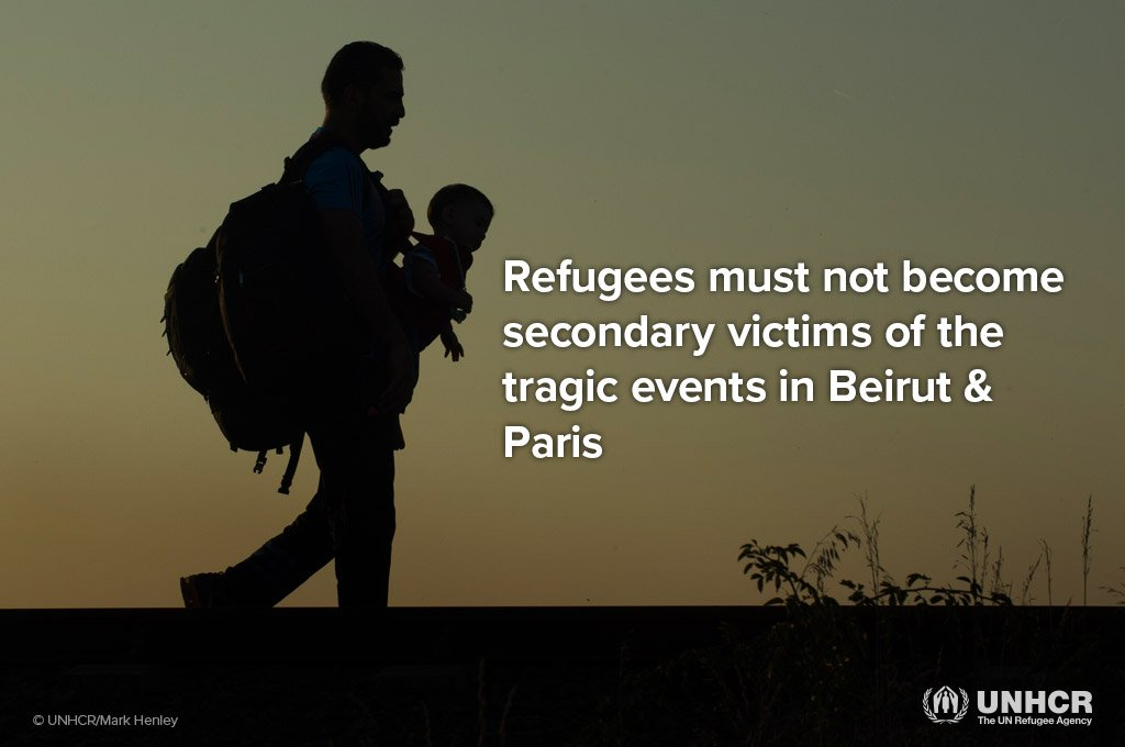 Refugees must not become scapegoats for the very violence so many of them flee. https://t.co/75FYwtCBhm