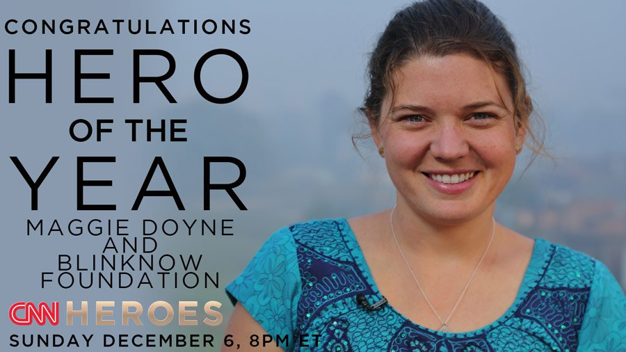 Congratulations to CNN Hero of the Year Maggie Doyne and @BlinkNow. Learn how you can help: https://t.co/MkgzSomt7H https://t.co/iJZ9z6tf5j