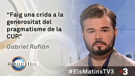 Recupera l'entrevista que li hem fet a @gabrielrufian, candidat d'@Esquerra_ERC al Congrés: https://t.co/U4fxkUu5bc. https://t.co/Ns78FOCfEN