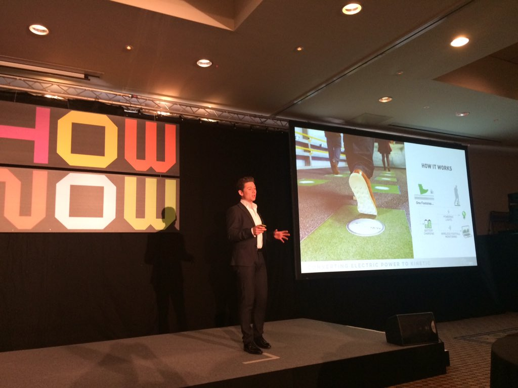 @Pavegen takes on the world, creating a paver that captures energy from footsteps #fabulous #SB15London https://t.co/8elwv4LSkd