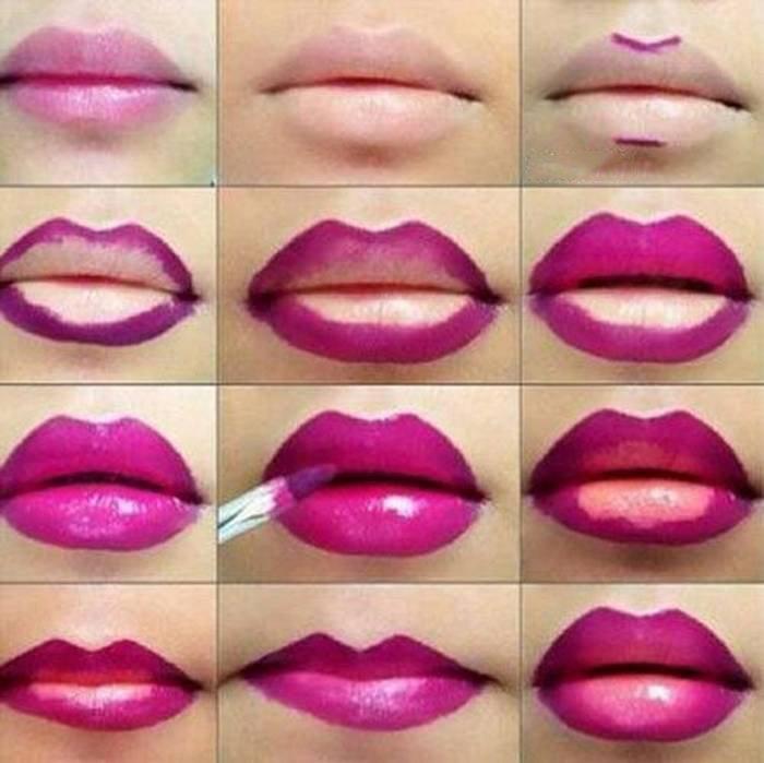Как красить узкие губы