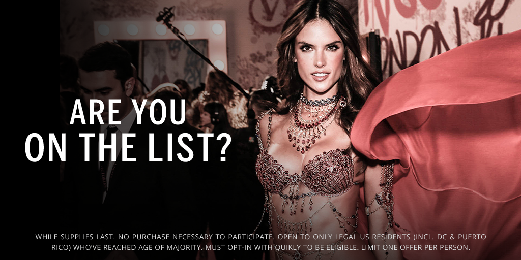 Time's running out! Opt in for a sexy little offer in honor of the #VSFashionShow. https://t.co/zSmA4ZDnZA https://t.co/qSUTDr0fwr