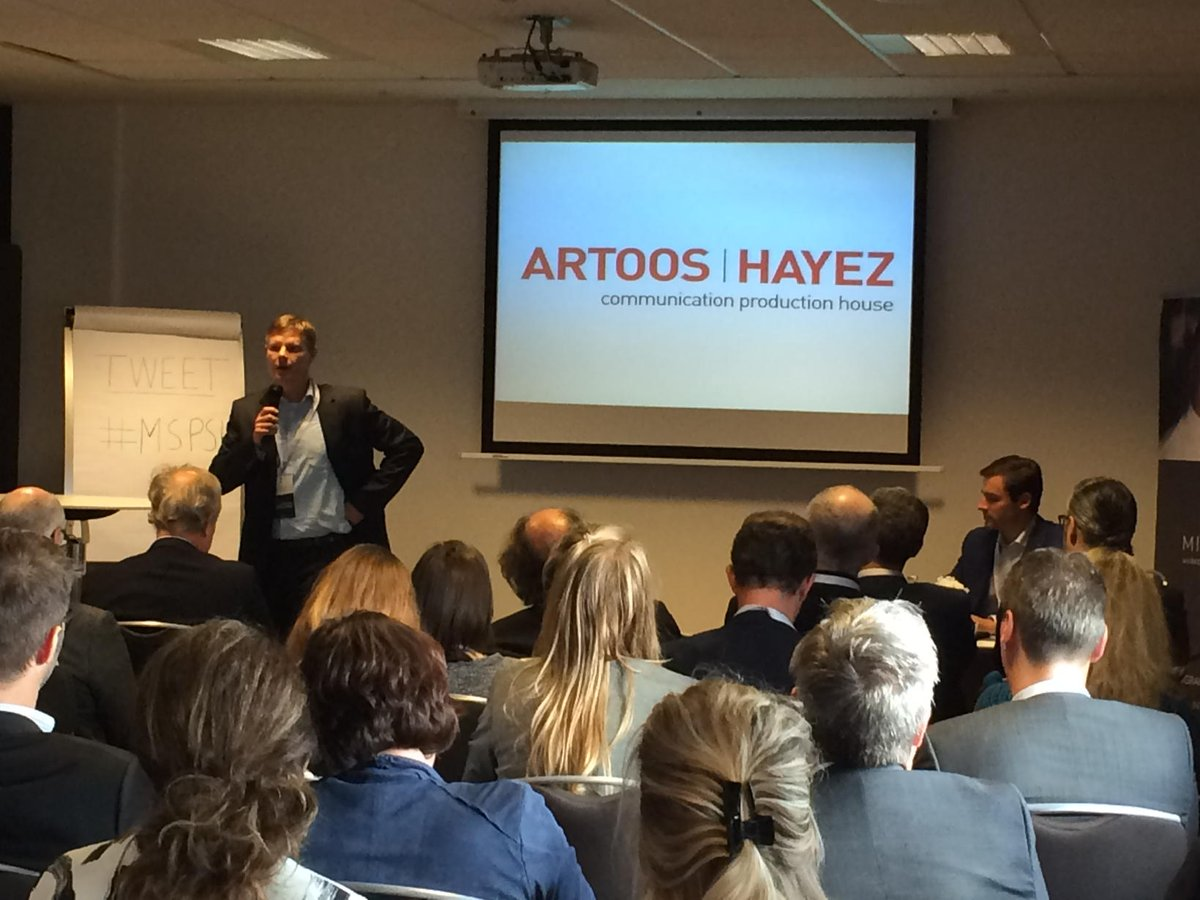 @GhijsbrechtKurt  on stage at #msps15 talking About how we used Social selling at #artoos https://t.co/LnJsTqxECm