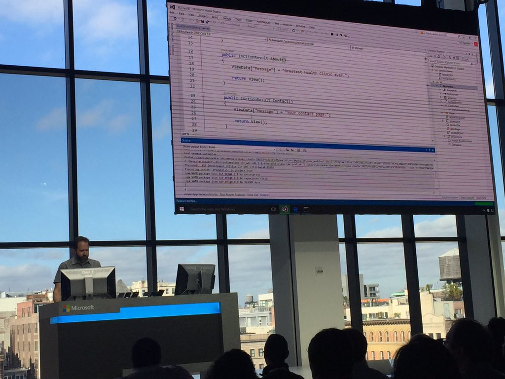 #Connect2015 @shanselman Visual Studio lets you deploy your https://t.co/0DDmnE4JCV 5 to Docker on Linux https://t.co/xypUxVgygq