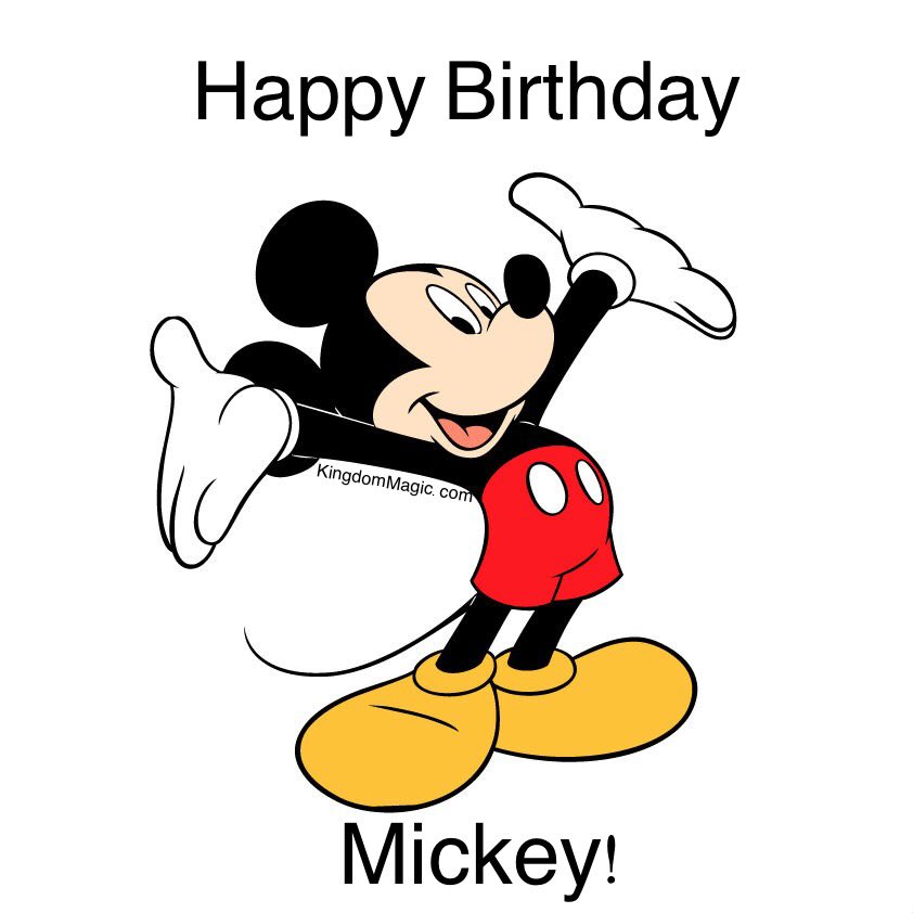 Happy Birthday Mickey Mouse! https://t.co/X6pzDmupAO