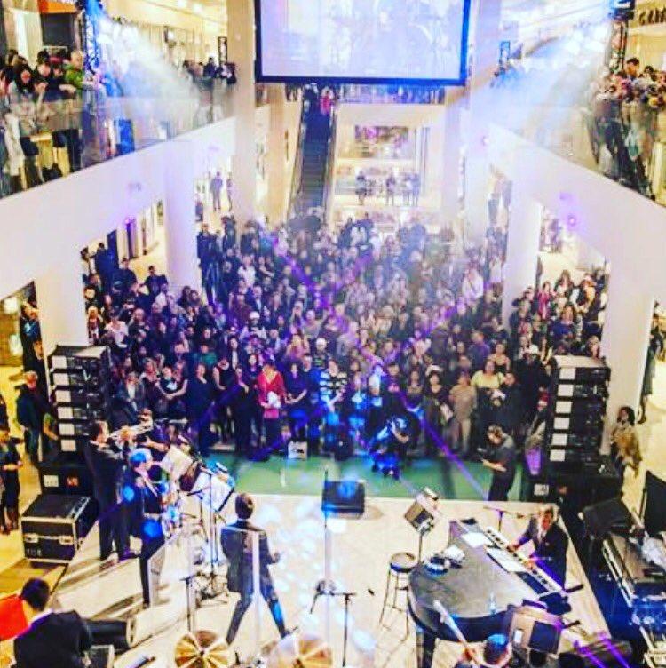 Heyya #yyc This will be us tomorrow at @COREshopping opening for #chantalkreviazuk &#rainemaida 4 @TD_Canada 1130