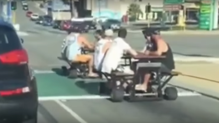 Australian Police Are Actively Trying To Arrest Motorized Picnic - Motorized picnic table