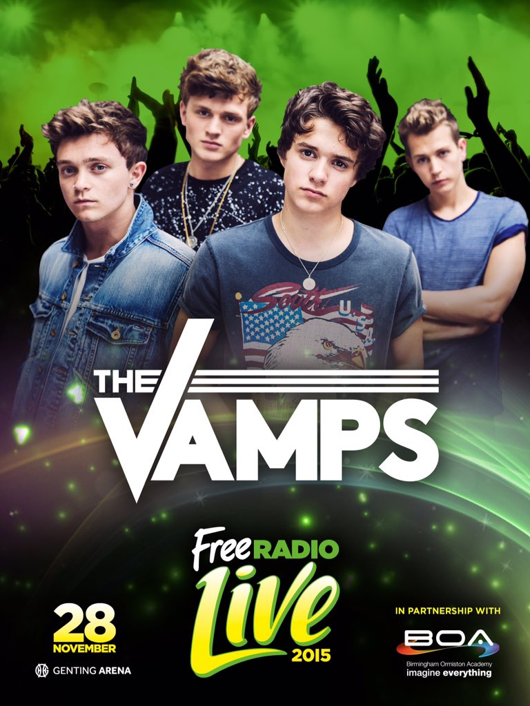 @TheVampsUpdates See @thevampsband at #FreeRadioLive 28th November @gentingarena Birmingham. https://t.co/iksKlUEGQc https://t.co/zGORAqizU4