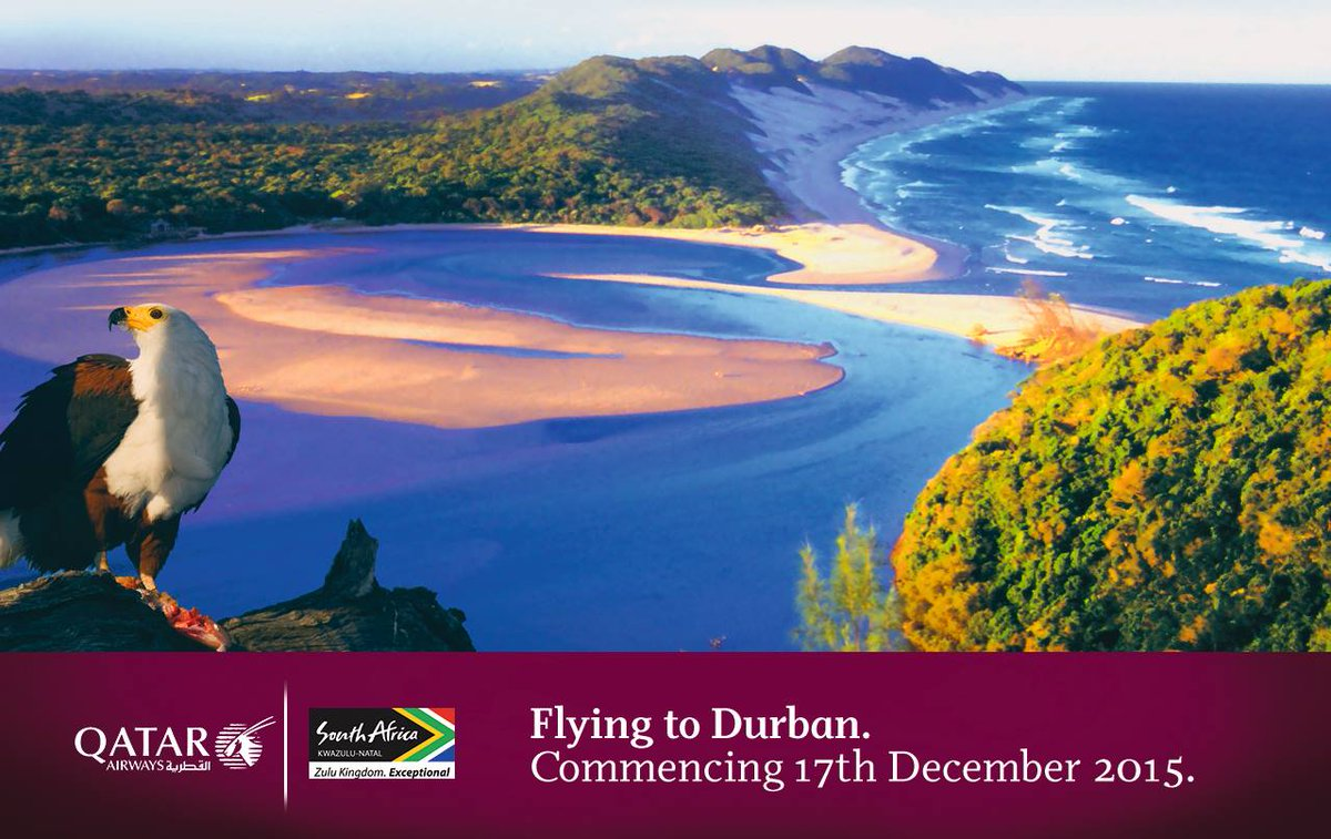 Witness the beauty of the South African coast. Flights to Durban begin 17 December. Book Now
