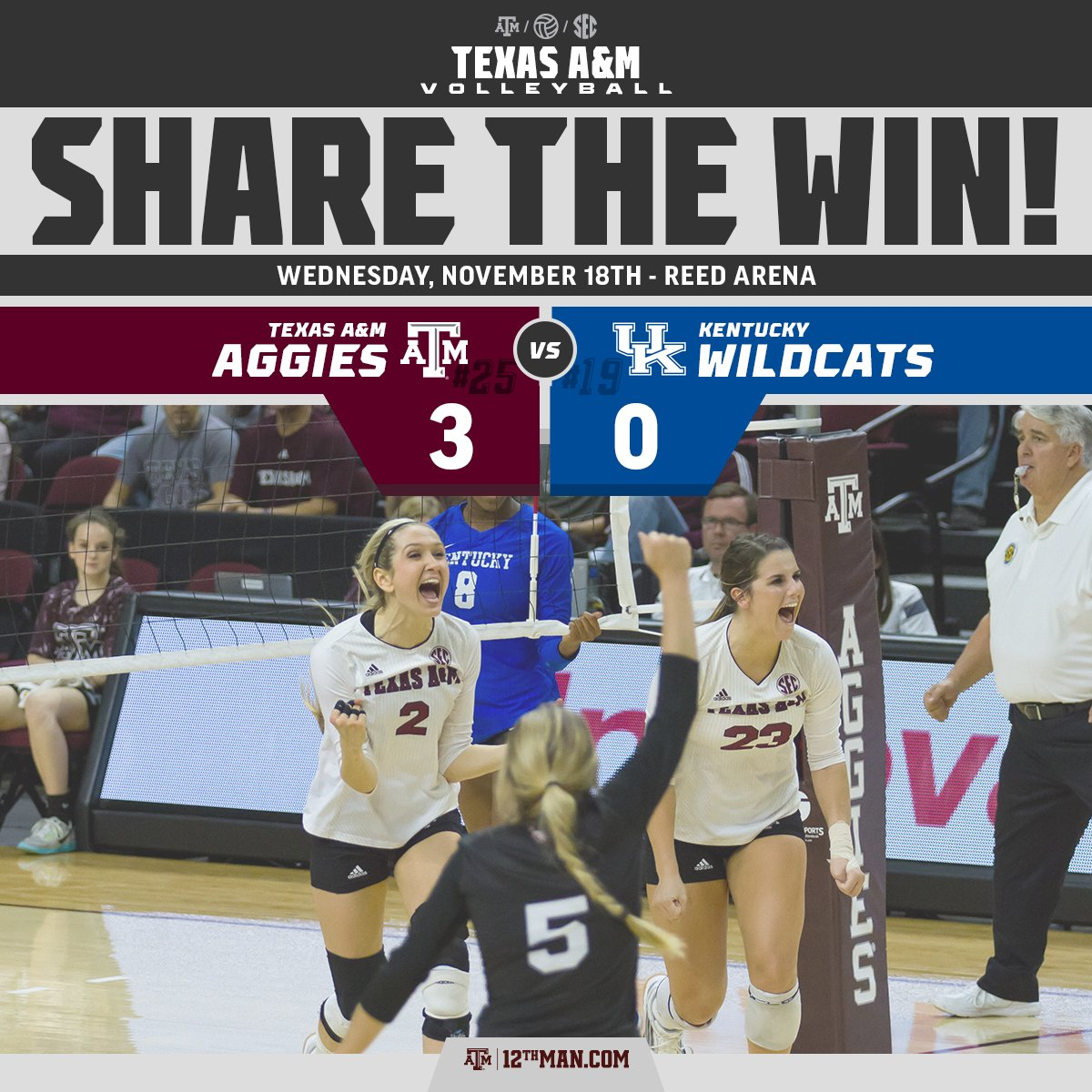 W-W-W-W-W-W-W-W-W-W-W, that's 11 straight wins for your Fighting Texas Aggies! #12thMan #RTtheWIN https://t.co/t4Dbo08N6b