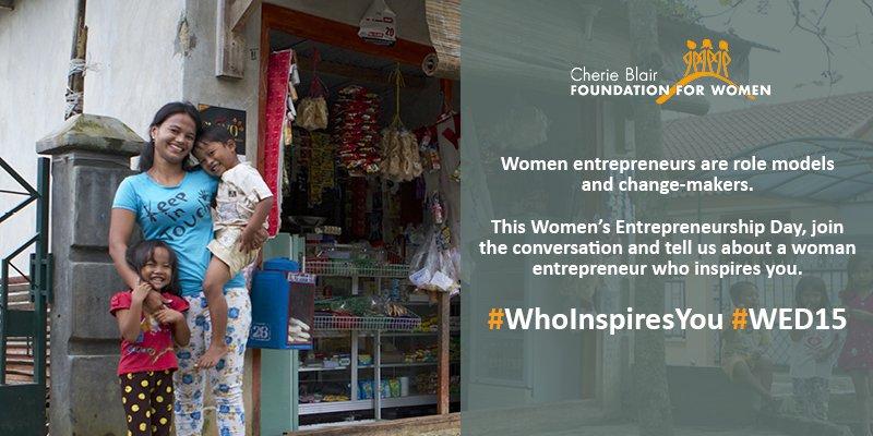 Happy Women's Entrepreneurship Day! #WhoInspiresYou? Share your stories of inspiring women entrepreneurs on #WED15 https://t.co/m7SUvCmuvG