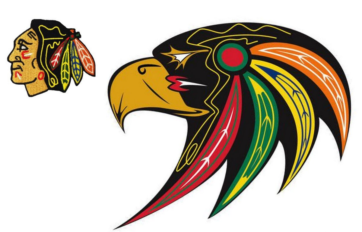 Culturally Appropriate Chicago Blackhawks Logo by First Nations Artist Goes Viral  -  https://t.co/Mzc2jetb8D https://t.co/NJvBuwceXz