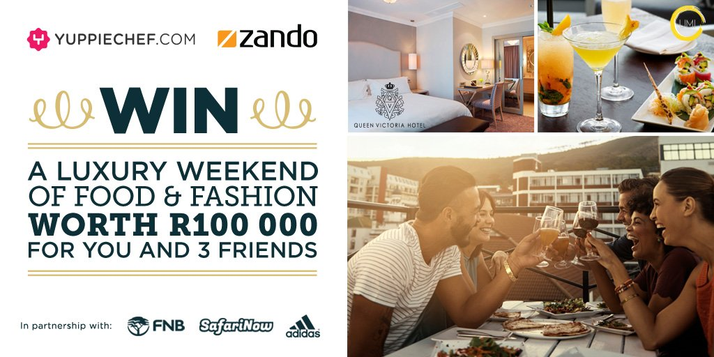 Zando & @yuppiechef are giving you & 3 friends the chance to WIN prizes worth R100 000! https://t.co/LEZinptJb3 https://t.co/I26gISSbwi