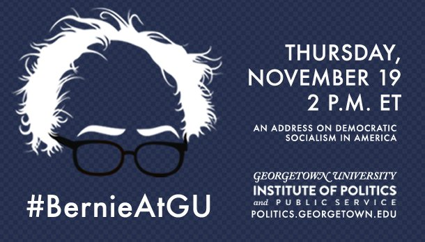 Bernie Sanders to Talk at @Georgetown on Democratic Socialism in America https://t.co/7GSsbA1zwR #BernieAtGU https://t.co/5u1UMdLuel