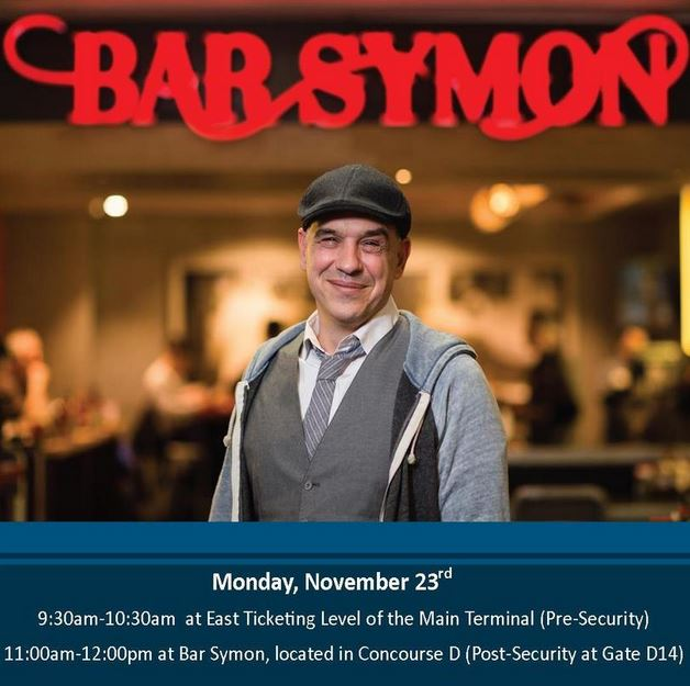 Meet @chefsymon at Dulles on Monday. He'll be here signing his new book!