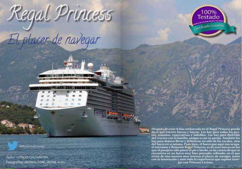 Recorremos a fondo el #RegalPrincess @PrincessCruises @MundomarCrucero #crucero #revistaicruceros https://t.co/5QZBscncJb