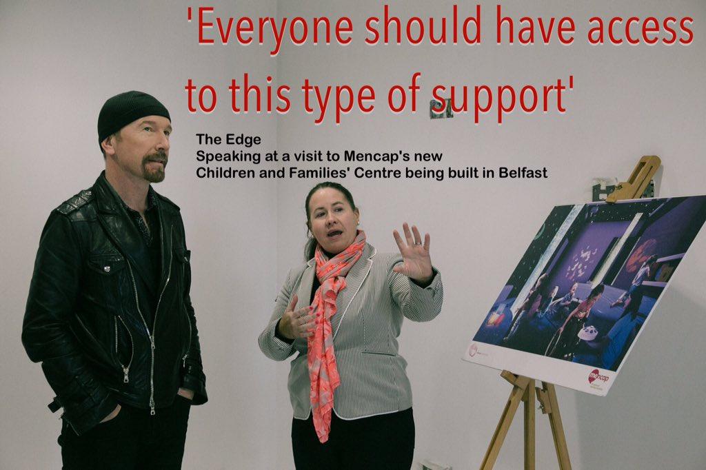 Great support from The Edge @U2 for @Mencap_NI new Children & Families' Centre #Belfast #bigstepforward #doit4mencap https://t.co/IKOA6cAj40