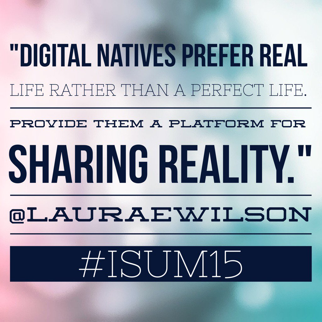 Create a hashtag. Let them share their stories. It doesn't have to be perfect. #isum15 #digitalnatives https://t.co/id1AFAmKCQ