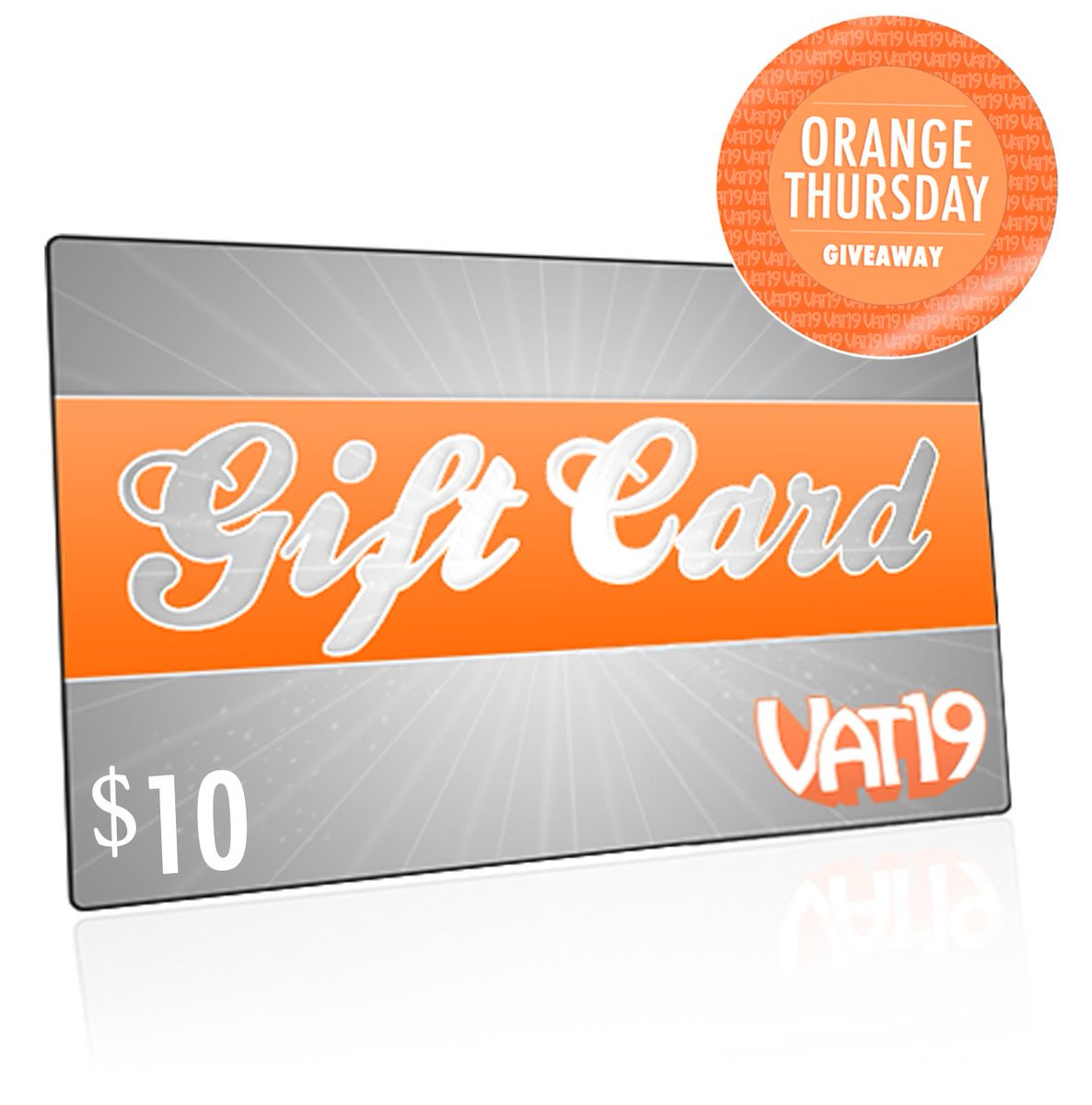 The next hour only: Win a $10 Gift Card for #OrangeThursday! To enter, like and RT this post! (Open internationally) https://t.co/utIT0GN5Qz