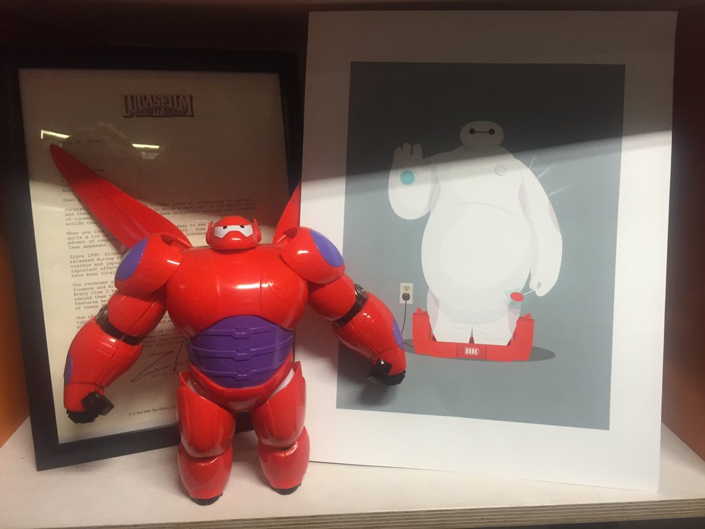 For your chance to win one of my Baymax prints just RT this! Will announce winner on Monday. (Toy not included.) https://t.co/RO2aSp10vv