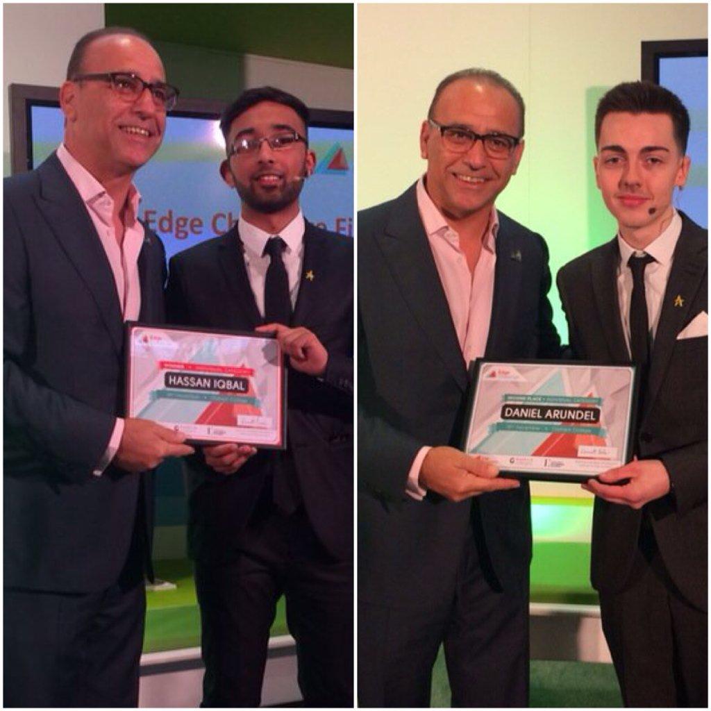 We are so proud of @HazIqbalUK & @DanielArundel! #TSS15 #skillsshow #EdgeChallenge #youngentrepreneurs #Winners https://t.co/jClp4lGHlQ