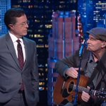 Stephen Colbert helped James Taylor update 'Fire and Rain' https://t.co/UHhP820qCC https://t.co/ty2BiSUCJT