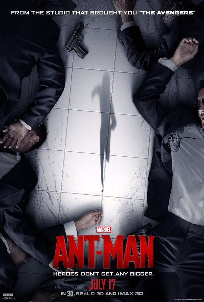 """بطل خارق جديد يُدعى """" الرجل النملة """" والذي بـ إستطاعته أن يتحكم بحجمه حتى بحجم النملة!  أكشن خيال 10/7.6  أفلام 2015 https://t.co/kek2aFLlAB"""