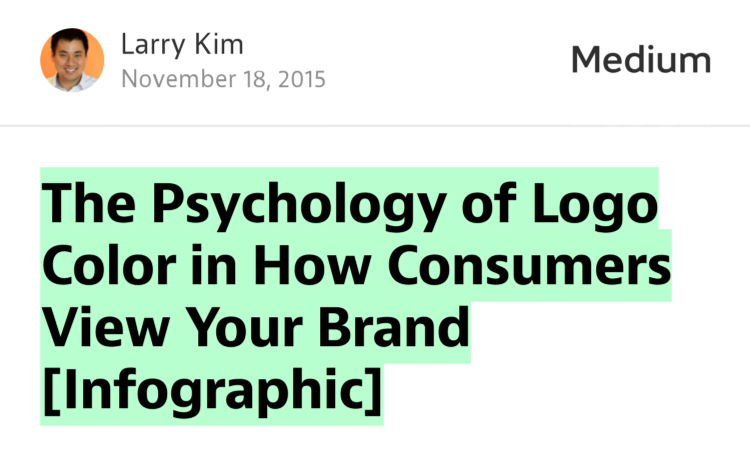 """The Psychology of Logo Color in How Consumers View Your Brand [Infographic]"" — @larrykim https://t.co/azrKM6BOMC https://t.co/x0LmEUORDC"