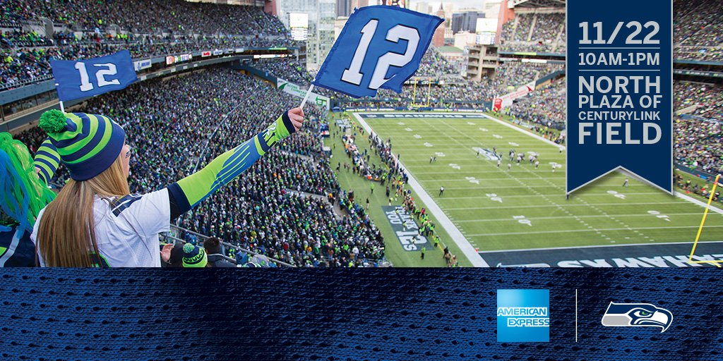 .@12s! Get your game faces on w/ us at #Section12 on 11/22 from 10AM-1PM!  #AmexSeahawks https://t.co/PgJTOxNgXu