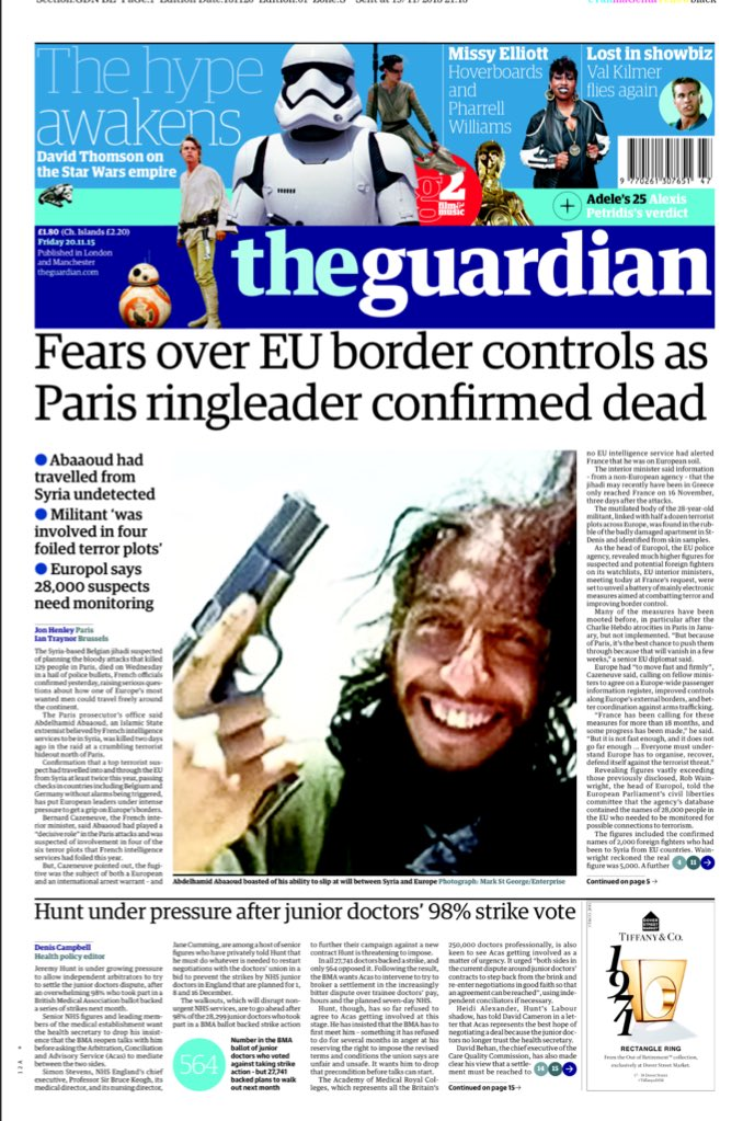 For those doubting @Telegraph story about terror leader disguising himself as refugee, it's also in Guardian #bbcqt https://t.co/kESM5ecudt