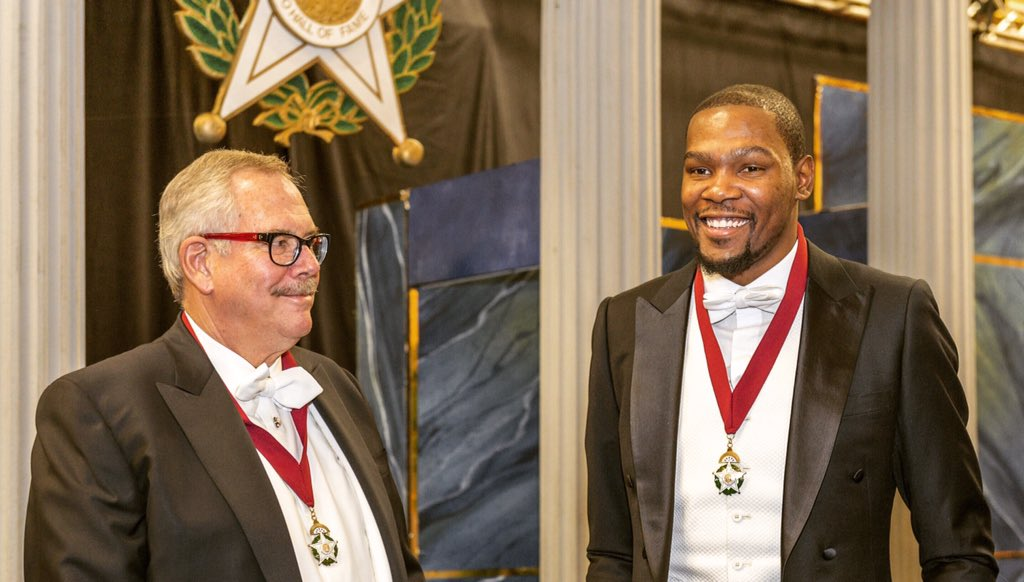 TU President Steadman Upham and @okcthunder forward Kevin Durant inducted into @OklahomaHoF tonight https://t.co/aSdmVm0KFd