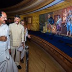 Inaugurated World Telugu Cultural Centre atop Kailasagiri Hill in Vizag. It reflects the cultural richness of Telugu https://t.co/3twpgxKil6
