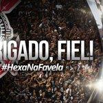 Foram 30 milhões de loucos jogando junto durante todo o campeonato. Obrigado, Fiel! #HexaNaFavela https://t.co/met5GWeR5e
