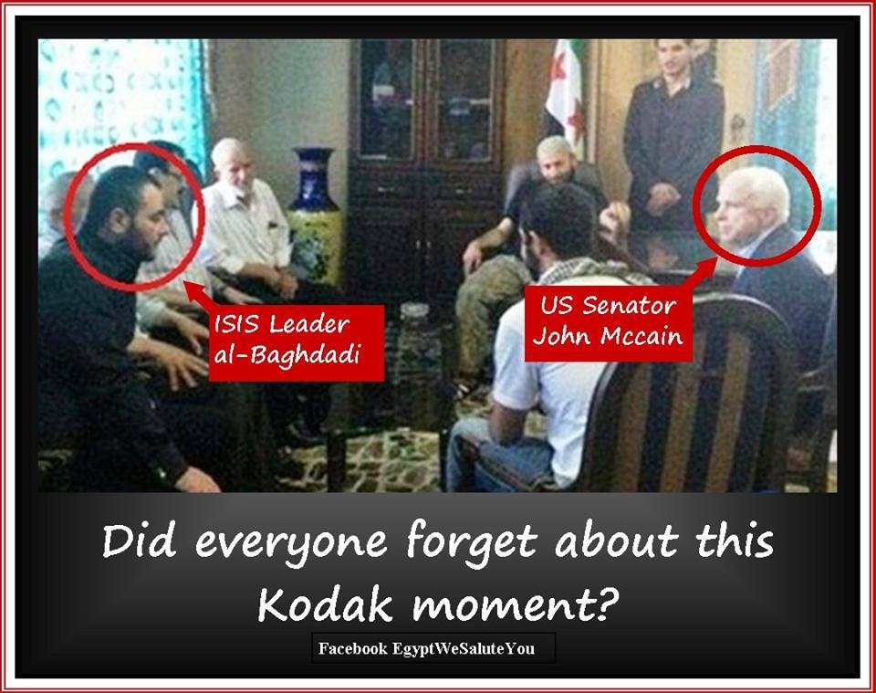 That ISIS Kodak moment that Senator John McCain and the Republicans want you to forget... https://t.co/HeNXodzeSZ