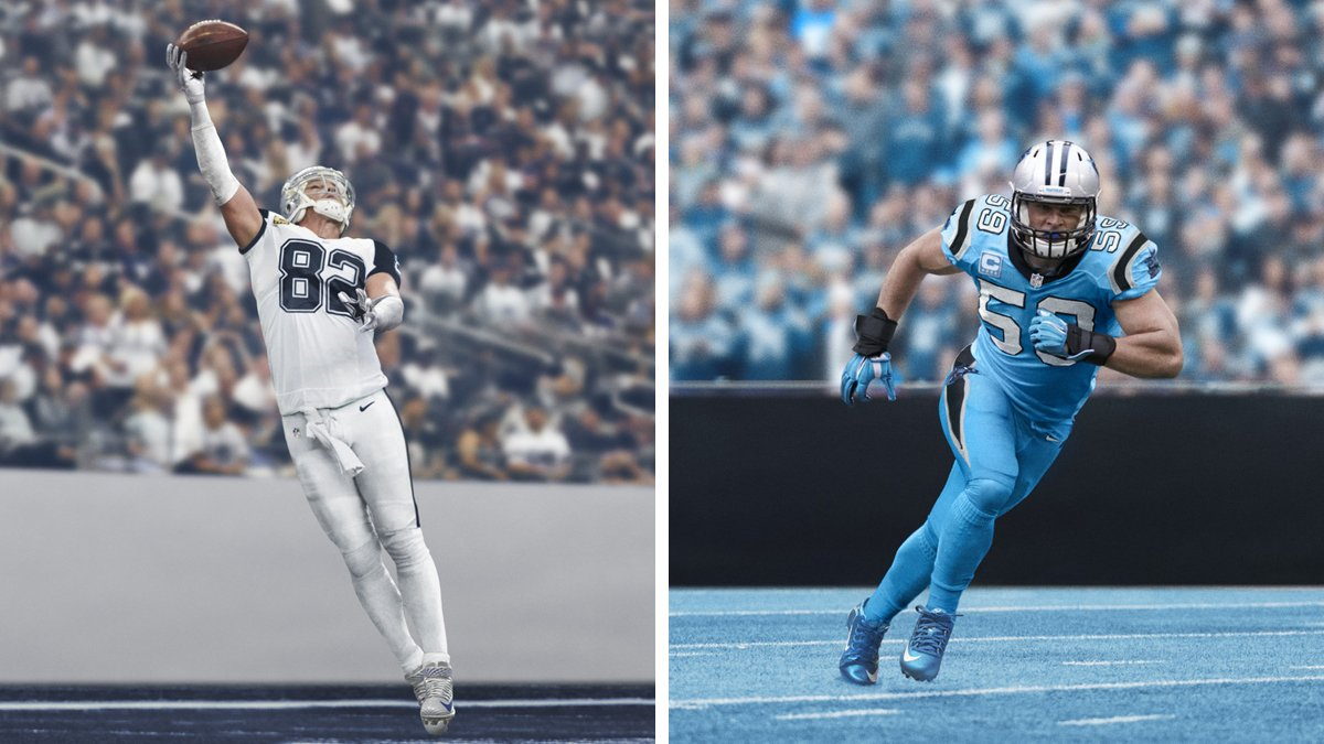 Nike unveils Color Rush uniforms for the Cowboys-Panthers game on  Thanksgiving. Thoughts  5dd0fd0d5