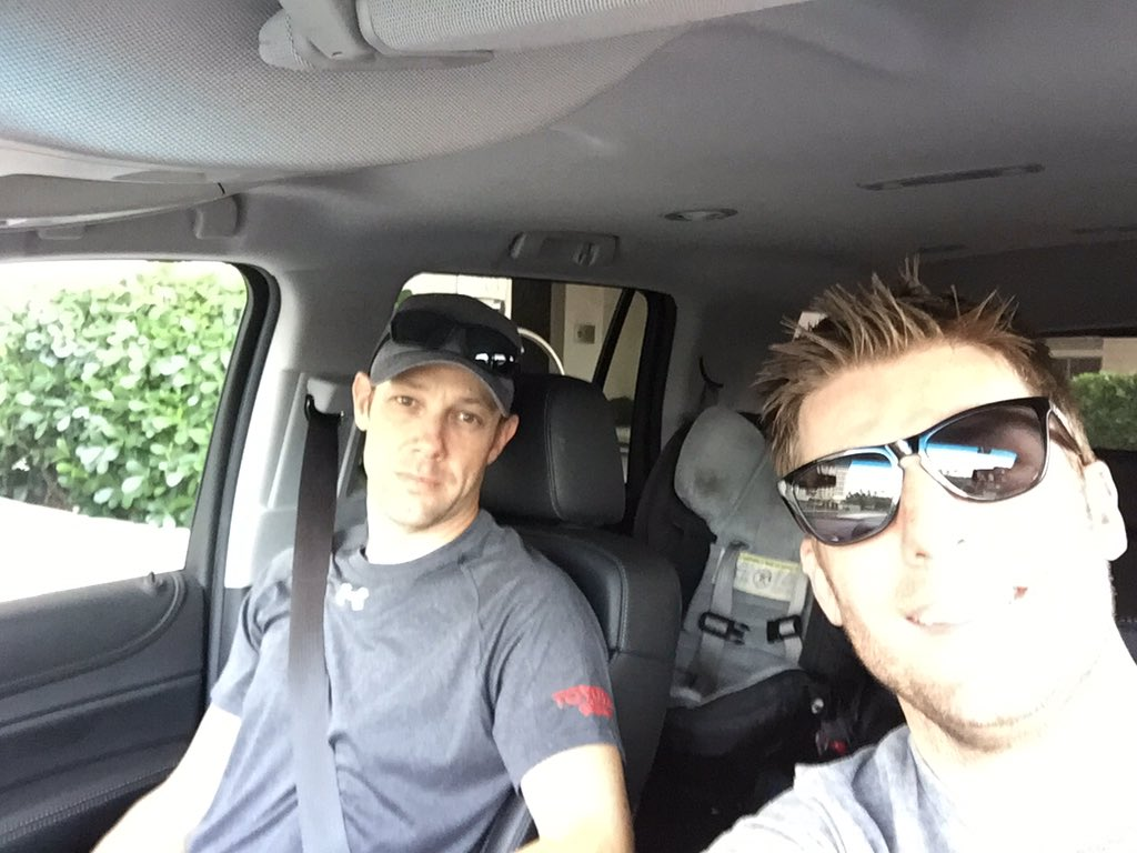 Proud to be chauffeuring my friend @mattkenseth back to the track this am. #WelcomeBackMatt https://t.co/X83RjpPPZ7